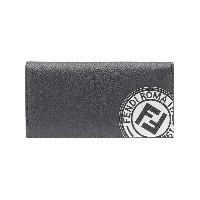 Fendi logo patch continental wallet - グレー