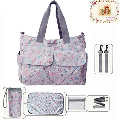 MSM Original Floral Designer Diaper Tote Bags (Sun Flower) by My Share Mall