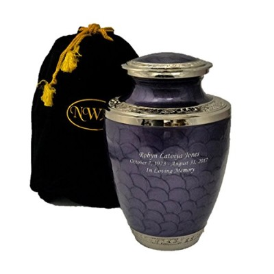 Cremation Urn、ラベンダー大人用Funeral壺with Personalization