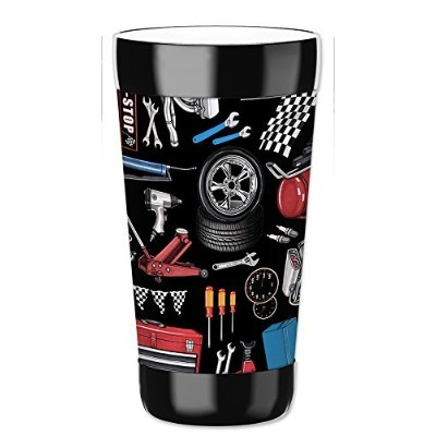 MugzieタンブラーDrink Cup with Removable Insulatedウェットスーツカバー–オートメカニックツール 16オンス 1007-TUM