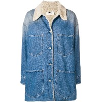 Mm6 Maison Margiela faux shearling lined denim jacket - ブルー