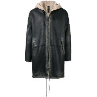 Giorgio Brato hooded zipped coat - ブラック