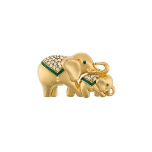 Monet Pre-Owned Monet Elephant Brooch - メタリック