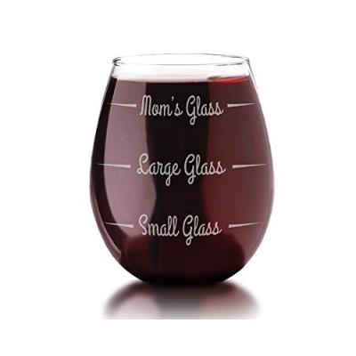 Stemless母の日ワインガラスPersonalized Funny Gag Gift for Mommy Momma 's Sippy Cup新しいママギフトベビーシャワーのギフトお母さんの誕生日...