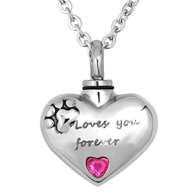 luckyjewelry Love You Forever Urn鋼火葬灰のネックレスジュエリー