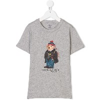 Ralph Lauren Kids bear print T-shirt - グレー