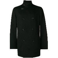 Giorgio Armani double-breasted fitted coat - ブラック