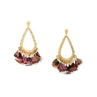 Gas Bijoux Bibi Plume earrings - メタリック