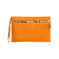 Heron Preston Handle With Care clutch - イエロー&オレンジ