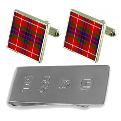 タータンClan Fraser Cufflinks & James Bondお金クリップ