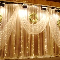 LEDウィンドウカーテンライト¡ Curtain Light 9.8 ft TSCL-WW3X3