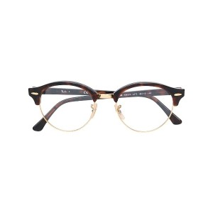 Ray-Ban Clubround round-frame glasses - ブラウン