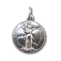 ST MICHAEL THE ARCHANGEL Medal – Heavenlyプロテクター – Antique Reproduction シルバー