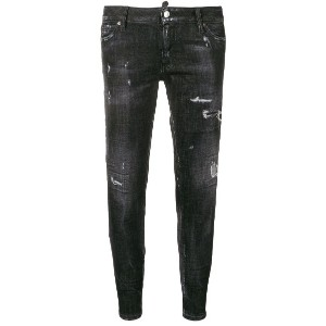 Dsquared2 low rise ripped skinny jeans - ブラック