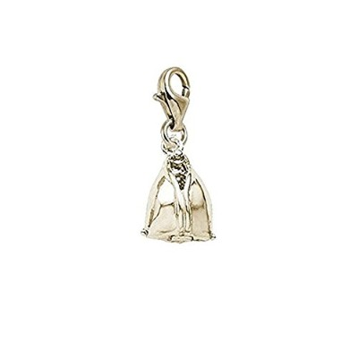 Fortune Cookie Charm with Lobster Claw Clasp、チャームブレスレットとネックレス用
