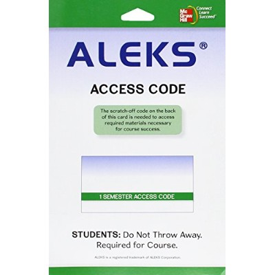 Bundle Version Aleks User Guide & Access Code 1 Semester