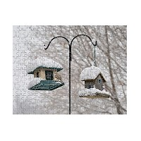 Bird Feeders in the winter parkジグソーパズル印刷 110 Pieces PUZLSESON018_HR_110P
