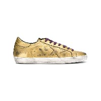 Golden Goose Deluxe Brand star lace up sneakers - メタリック