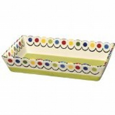 Thompson & Elm M. Bagwell Happy Together Ceramic Rectangular Casserole Dish, Lime Green by Thompson...