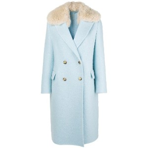 Ermanno Scervino double breasted coat - ブルー