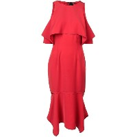 Yigal Azrouel cold shoulder dress - レッド