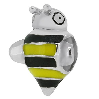 Zable Sterling Silver Bumble Beeビーズ/チャーム
