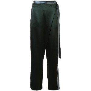 Dion Lee side stripe wrap trousers - グリーン