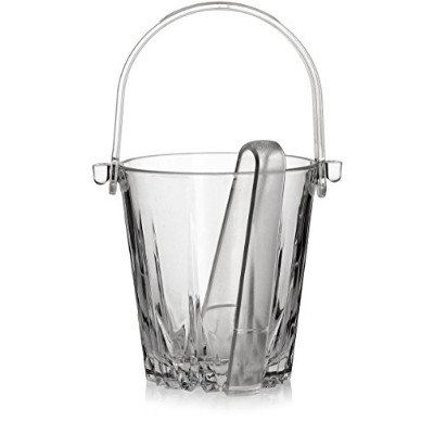 (13cm Ice Bucket) - Circleware CG Karat Glass Ice Bucket with Plastic Tongs/High Class Double Old...