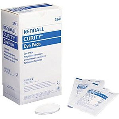 Curity Eye Dressing Pad Oval Sterile Box of 50 KENDALL HEALTHCARE 2841 by Covidien /Kendall