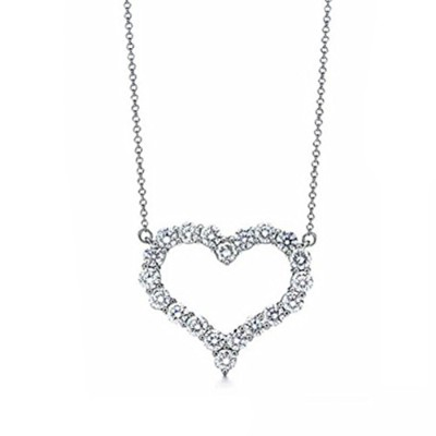 Ange de neige Eternal Love、プラチナメッキネックレスStrongグロスAAAキュービックジルコニアComes with美しいギフトラップ