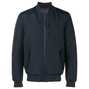 Woolrich classic zipped bomber jacket - ブルー