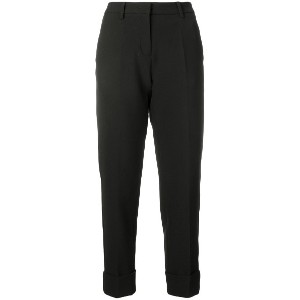Cambio straight cropped trousers - ブラック