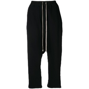 Rick Owens DRKSHDW drawstring cropped trousers - ブラック