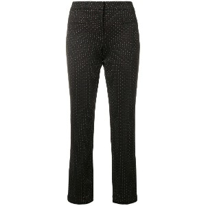 Cambio polka dot cropped trousers - ブラック
