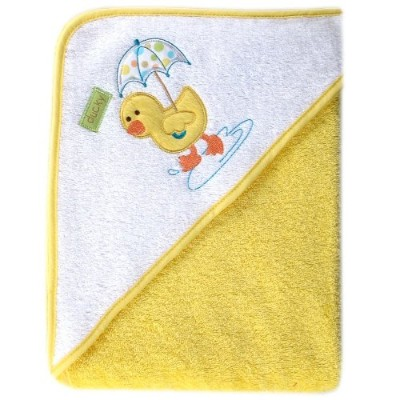 Luvable Friends Umbrella Animal Woven Terry Hooded Towel, Yellow by Luvable Friends
