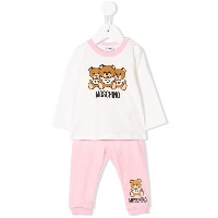 Moschino Kids teddy bear tracksuit set - ピンク&パープル