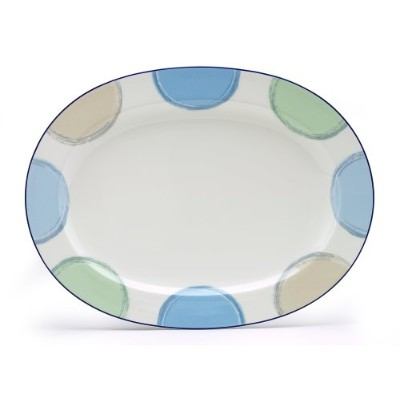 Noritake Java Blue Oval Platter、14-inches
