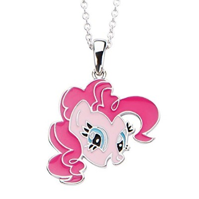 """Pinkie Pie Pendant Necklace - My Little Pony Sterling Silver, 0.66"""" x 0.54"""""""