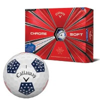 Callaway Chrome Soft Truvis Stars and Stripes Golf Ball【ゴルフ ボール】