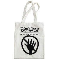 ユニセックス THIRD DRAWER DOWN Don't Touch My Stuff Tote Bag オブジェ ホワイト