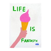 ユニセックス THIRD DRAWER DOWN Life is Fantastic Tea Towel オブジェ ホワイト
