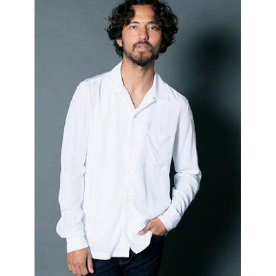 【SALE/35%OFF】Magine RAYON OPEN COLLAR SHIRTS L/S マージン シャツ/ブラウス【RBA_S】【RBA_E】【送料無料】