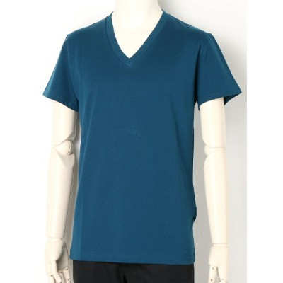 LITHIUM HOMME GIZA COTTON V-NECK T-SHIRTS リチウム オム/ファム カットソー【送料無料】
