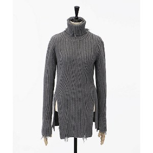 CHRISTIAN DADA/クリスチャン ダダ  Damaged Ribbed Turtleneck Knit Sweater(CDW-18W-0801) GRY 【三越・伊勢丹/公式】...