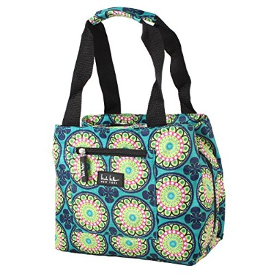 (Kaleidoscope Teal) - Nicole Miller of New York Insulated Lunch Cooler 11 Lunch Tote (Kaleidoscope...