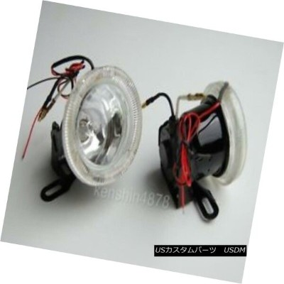 "エアロパーツ 2pc 3"" Round Fog / Driving Lights Kit Includes Bulb & Wiring - Universal Fitment 2pc 3 ..."