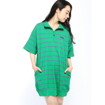 [Rakuten BRAND AVENUE]STRIPED PQ HF Z DRES X-girl エックスガール ワンピース【送料無料】