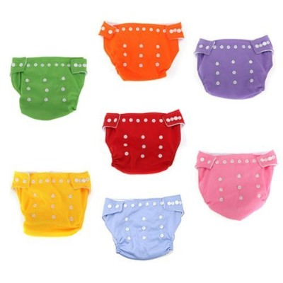 Water & Wood 7pcs Reusable Washable Adjustable Baby Soft Cloth Diaper Nappy Toddler Dry Tender Care...