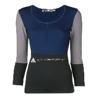 Adidas By Stella Mccartney long-sleeve fitted T-shirt - ブルー