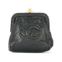 Chanel Vintage CC coin purse - ブラック